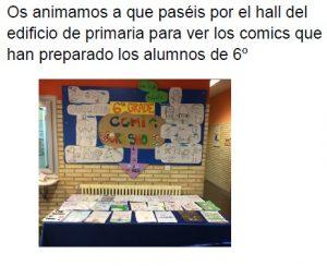 Exposición COMIC 6º primaria